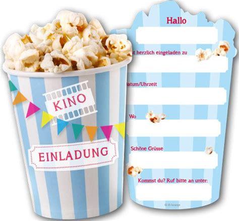 einladungskarten kino popcorn fixefetede