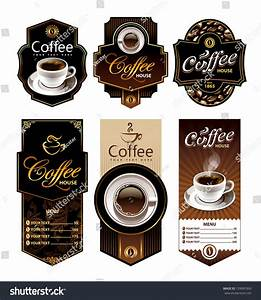coffee design banners menu brand labels stock vector With coffee label design template