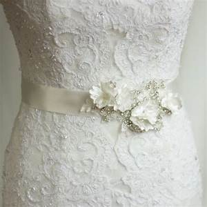 bridal sash wedding dress belt rhinestone sash bridal With wedding dress sashes and belts
