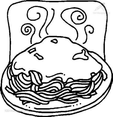 Kleurplaat Spaghetti Eten kleurplaat spaghetti