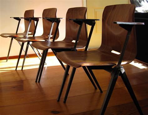Lot Of Eight (8) Industrial Dining Room Chairs