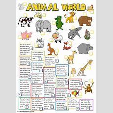 Animal World  Interactive Worksheet