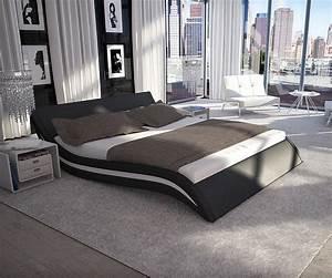 Modernes Bett 180x200 : bett sempre 180x200 cm schwarz weiss polsterbett 180cm in 2019 polsterbett bett und polster ~ Watch28wear.com Haus und Dekorationen