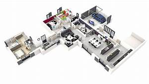 plan de maison retaise With plan maison moderne 3d