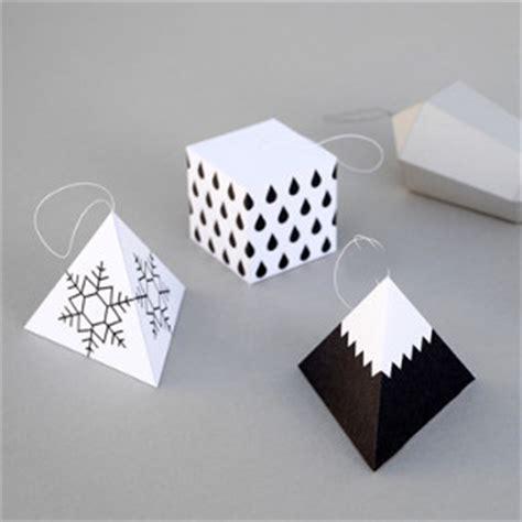 geometric shape ornaments allfreepapercrafts