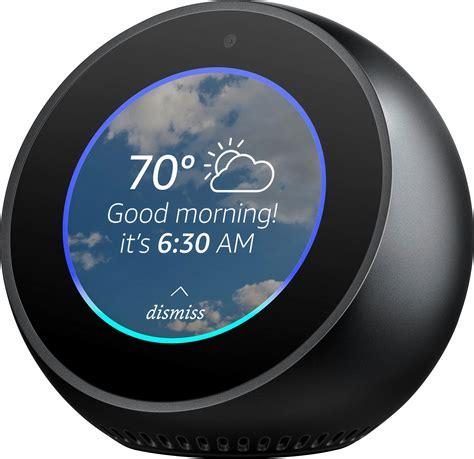 echo spot echo spot smart alarm clock with black