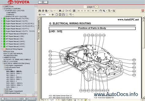 toyota avensis 2003 2008 service manual repair manual
