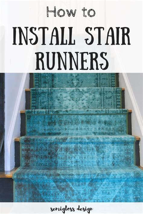 How To Install Stair Runners Using Regular Runner Rugs