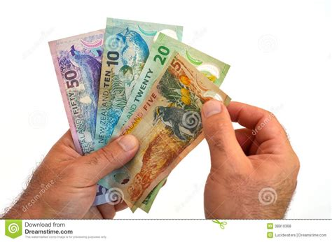 currency converter nz new zealand dollar banknotes stock photo image 38910368