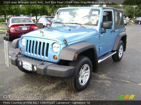 jeep surf surf blue pearl 2010 jeep wrangler sport 4x4 dark