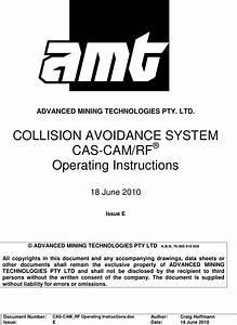 Ge Mining Australia Amtcasg1 Uhf Data Transceiver User Manual