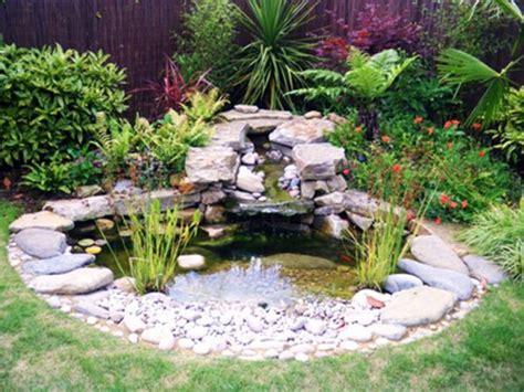 gardens  pebbles small garden pond design ideas