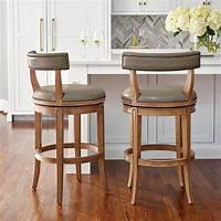 bar stools with backs Henning Low Back Bar and Counter Stools | Frontgate