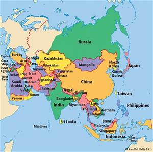 Asia Map | School | Pinterest | Asia, Asia map and Taiwan