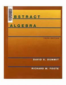 Abstract Algebra  Dummit  2004