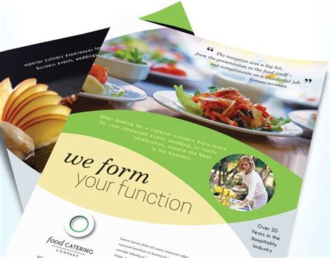 Catering Brochure Templates by Food Catering Company Flyer Brochure Template Design By