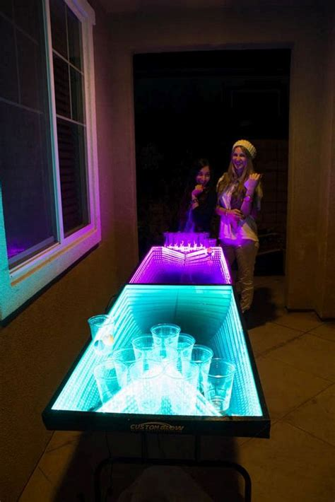 led beer pong table barnorama