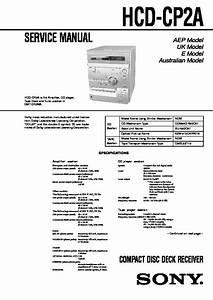 Sony Hcd-cp2a Service Manual