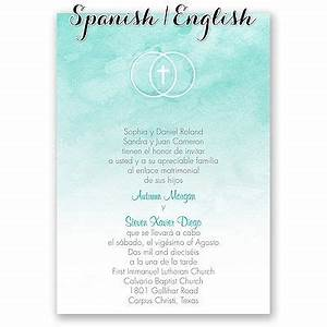 hispanic wedding invitations i amor y fe i print your With addressing wedding invitations in spanish