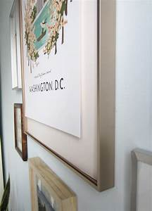 how to float mount pictures in a frame little house big city With what kind of paint to use on kitchen cabinets for pink and gold canvas wall art