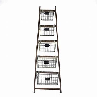 Ladder Blanket Baskets Wood Wayfair Basket Creative