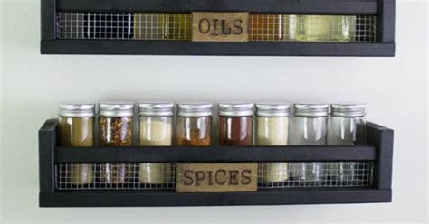 Ikea Wall Mounted Spice Rack by Diy Rustic Wall Mounted Spice Rack Ikea K 248 Kken