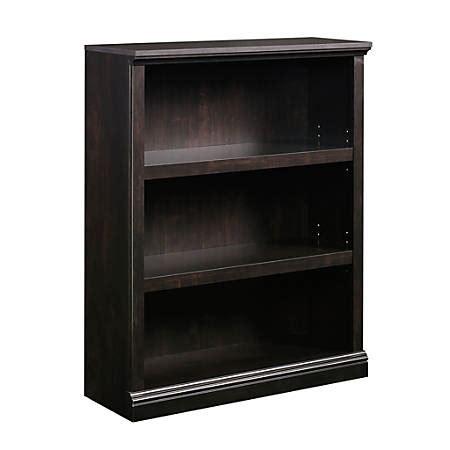 Sauder Black Bookcase by Sauder Select Bookcase 3 Shelf Estate Black Office Depot