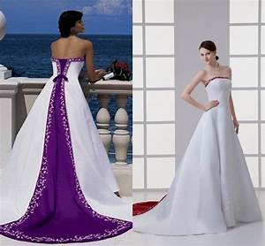 Purple And White Wedding Dresses Suppliers - Junoir