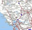 Map of San Francisco, North Bay, California
