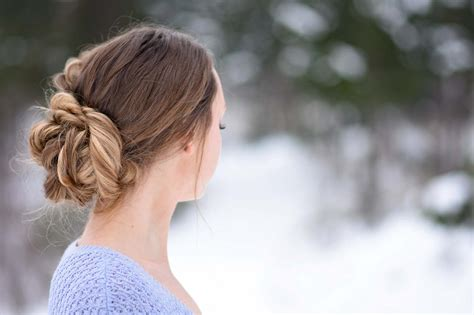 stacked fishtail updo cute hairstyles