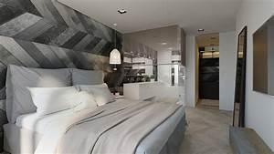 chambre avec une deco grise et blanche With chambre grise et blanche