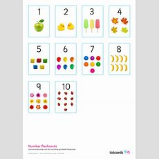 Free Number Flashcards For Kids Totcards