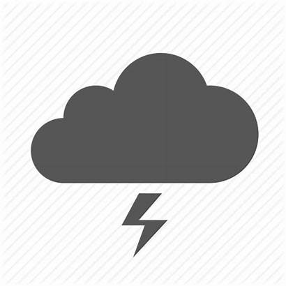 Cloud Storm Icon Lightning Weather Clouds Simple