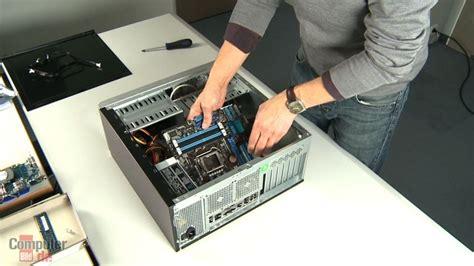 rechner selbst zusammenbauen mainboard computer bild