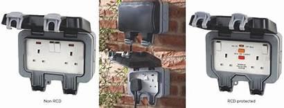 Socket Outdoor Sockets Outside Usb Extension Lead