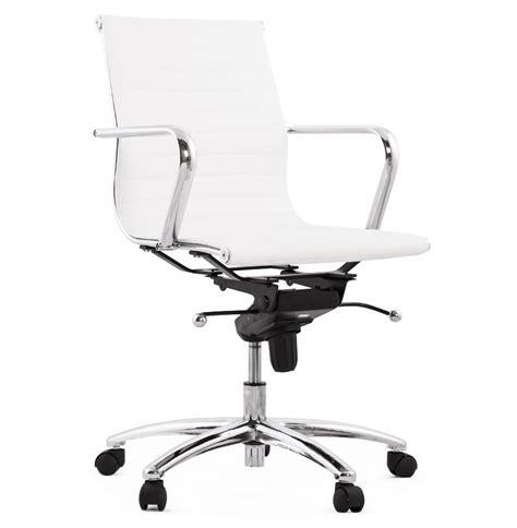 fauteuil de bureau design mega blanc à roulettes