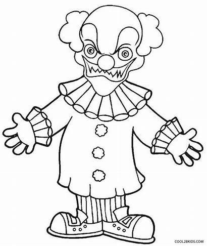Clown Coloring Pages Scary Printable Evil Goosebumps