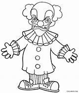 Clown Coloring Printable Scary Evil Goosebumps Killer Face Joker Drawing Clowns Cool2bkids Drawings Draw Cartoon Getdrawings Getcolorings Sheets Line Simple sketch template