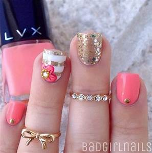 Lovely summer nail art ideas and design