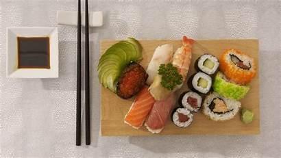 Sushi Japanese Allsorts Cuisine Fish Caviar Rice