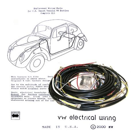 1979 Vw Wiring Harnes by Wiring Works Wiringworks Vw Bug Replacement Wiring