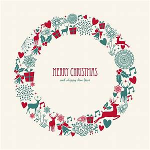 Christmas Elements Wreath Vector | Free Vector Graphic ...