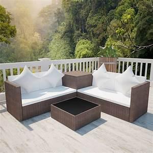 Rattan Lounge Set Braun : vidaxl lounge set gartenm bel sitzgruppe sitzgarnitur sofa poly rattan braun eur 319 99 ~ Bigdaddyawards.com Haus und Dekorationen