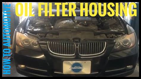 replace  oil filter housing gasket   oil