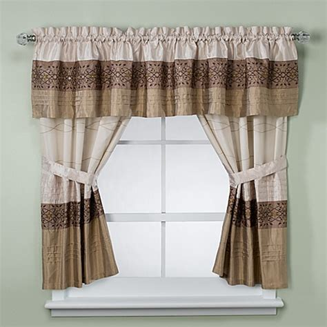 Bathroom Window Valances by Kas Romana Bathroom Window Curtain Pair In Taupe Bed