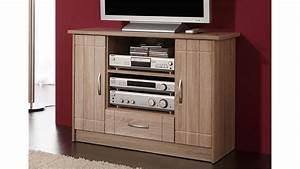 tv kommode village tv schrank in mdf sonoma eiche dekor