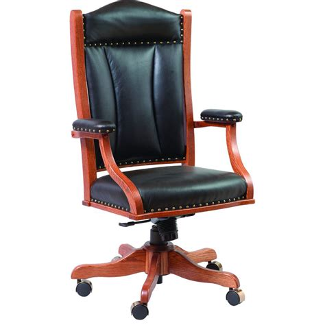 desk chair with gas lift amish crafted furniture