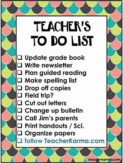 Teacher Teachers Classroom Organize Lists Checklist Help