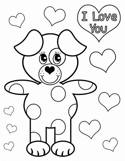 Coloring Pages Puppy Valentine Sister Wisdom Word