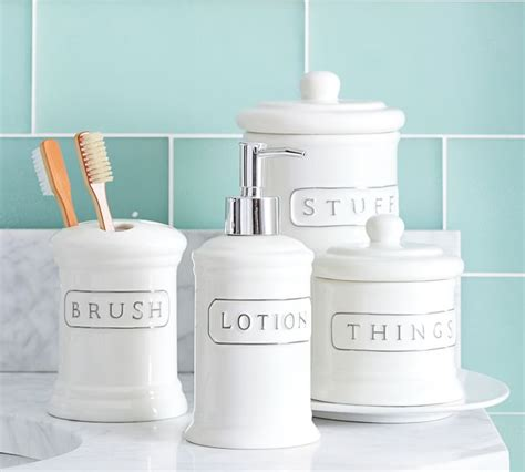 White Bathroom Accessories Ceramic  My Web Value